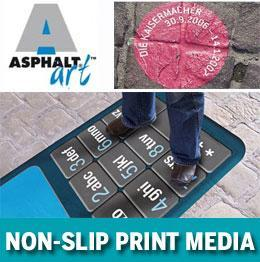 Asphalt Art printable non slip vinyl for indoor and outdoor advertising