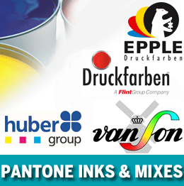 Litho inks and Pantone ink mixes