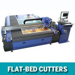 Flat-bed cutting tables