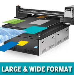 large and wide format uv inkjet printing systems