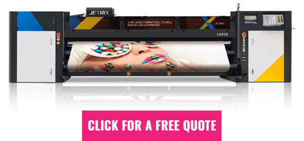 Jetrix LXiR320 UV roll to roll printer - get a free quote