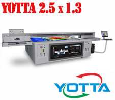 Yotta UV 2.5 x 1.3 with Kyocrea print-heads