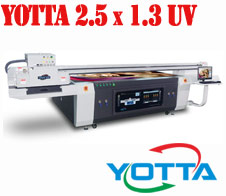 Yotta 2.5 x 1.3 UV flatbed