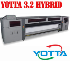Yotta 3.2 Hybrid UV inkjet with Kyocera print-heads