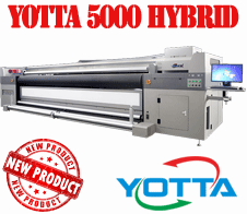 Yotta 5000 - 4 - 7 colour UV LED  hybrid roll-to-roll & flatbed